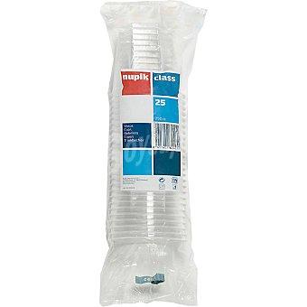 Nupik Vaso transparente 25 cl bolsa 25 unidades Vaso 25 cl