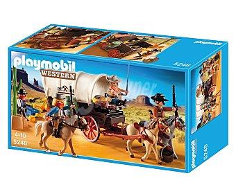Playmobil Play set Western Caravana con bandidos, incluye 4 figuras, 3 caballos y accesorios, modelo 5248 de 1 unidad