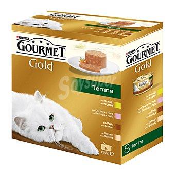 Gourmet Comida para gatos Terrine Surtido Pack 8x85 gr