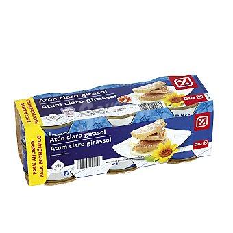 DIA Atún claro en aceite de girasol Pack de 6 latas 52 gr