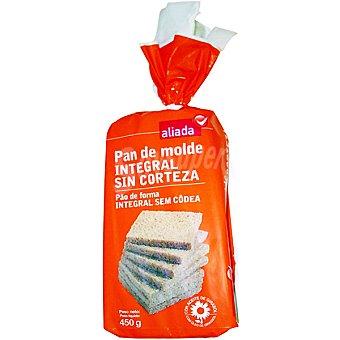 Aliada pan molde integral sin corteza Bolsa 450 g