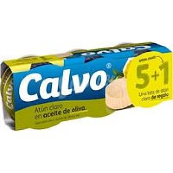 Calvo Atún claro aceite de oliva Pack 5+1 gratis