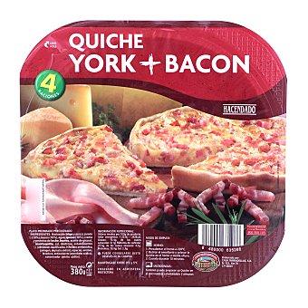 Hacendado Quiche fresca jamon york y bacon 4 raciones (380 g)
