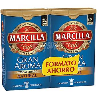 MARCILLA GRAN AROMA Café molido descafeinado natural 2x200g