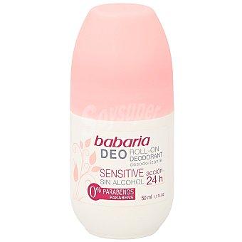 Babaria Desodorante sensitive sin alcohol roll-on Bote 50 ml