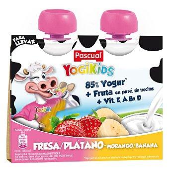 Pascual Yogur bebible de fresa o plátano yogurkids 2 x 80 g