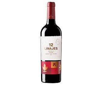 12 Linajes Cino tinto ciranza con denominación de origen Ribera del Duero botella de 75 cl