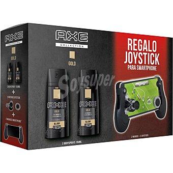 Axe Pack desodorante Gold 2 spray 150 ml + regalo de joystick para smartphone 2 spray 150 ml