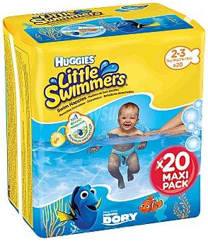 Huggies Little Swimmers Bañador desechable talla 2-3 (3-8kg) 20 unidades
