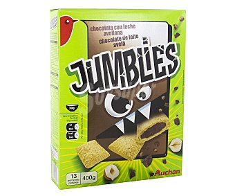 Auchan Cereales de chocolate y avellanas jumblies 400 gramos