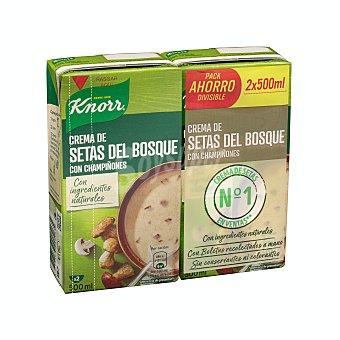 Knorr Crema liquida setas del bosque con champiñones Brick pack 2 x 500 ml - 1 l