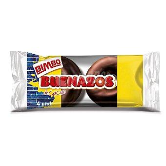 Bimbo Rosquillas bañadas de cacao 4 unidades 200 gramos