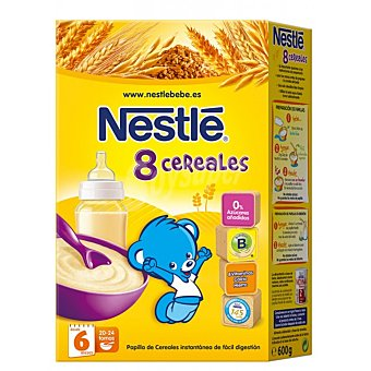 Nestlé Papilla 8 Cereales con Bifidus desde 6 meses 600g