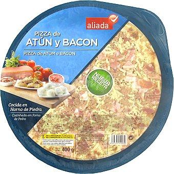 Aliada Pizza de atún y bacon cocida en horno de piedra Envase 400 g