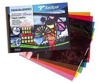 Sadipal Bloc de papel celofán de 10 hojas, sadipal