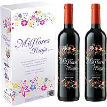 Milflores Vino Tinto Joven Rioja Pack 2x75 cl