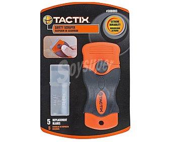 Tactix Rascador son sistema de bloqueo de cuchilla, 5 cuchillas ultra resistentes y recubierto de goma antideslizante 1 unidad