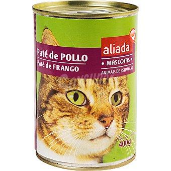Aliada Paté de pollo para gatos Lata 400 g