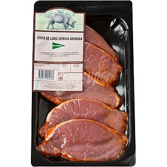 El Corte Inglés Lomo adobado de cerdo ibérico en filetes peso aproximado Bandeja 250 g
