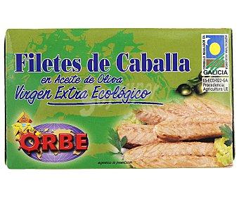 Orbe Filetes de caballa en aceite de oliva virgen extra Ecológico, bajo en sal 87 Gramos