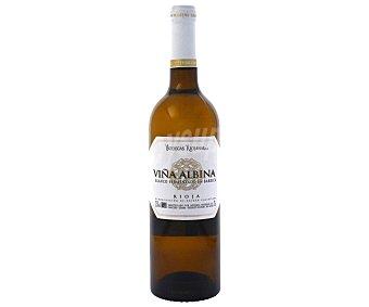VIÑA AlBINA Vino Blanco Rioja Crianza Fermentado en Barrica 75 centilitros