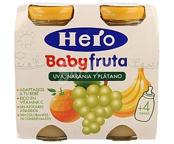 Hero Zumito de uva, naranja y plátano Pack 2 x 130 ml