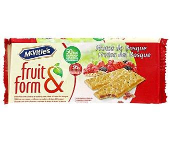McVities Galletas rellenas de frutas del bosque fruit&form fruit & form 218 g