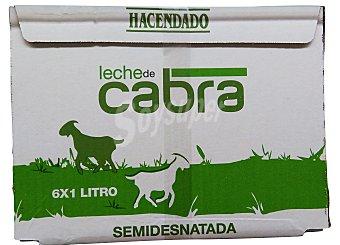 Hacendado Leche semidesnatada cabra Brick pack 6 x 1 l - 6 l