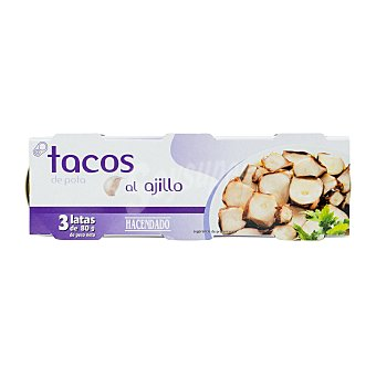 Hacendado Pota ajillo tacos conserva U - 240 g