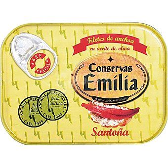 Emilia Filetes de anchoa del Cantábrico en aceite de oliva Lata 50 g neto escurrido