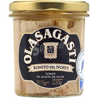 Olasagasti Lomos de bonito del norte del mar Cantabrico en aceite de oliva tarro 220 g Tarro 220 g