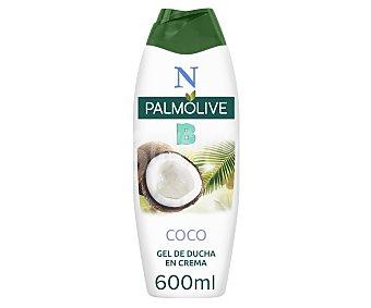 Palmolive Gel de baño o ducha con textura crema y proteínas de leche y extracto de coco 600 ml