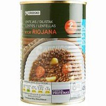 Eroski Lentejas a la Riojana Lata 425 g