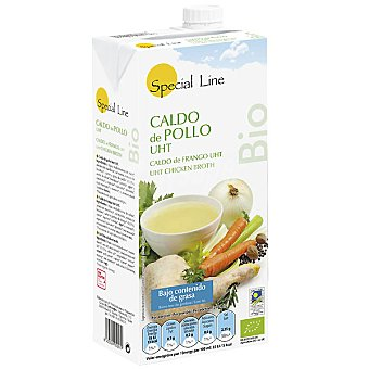 Special Line Caldo de pollo bajo contenido en grasa ecológico Envase 1 l