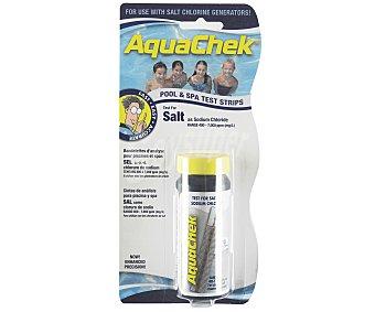 AQUACHECK Lote de tiras análiticas para la determinación del contenido de sal en el agua. Un nivel ideal de sal permitirá a su generador de cloro funcionar de manera eficiente 1 unidad