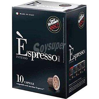 Caffe Vergmano Café intenso espresso en cápsulas compatibles con máquinas Nespresso Paquete 50 g