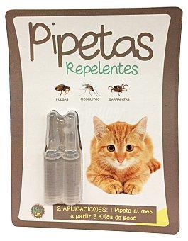 KRISLIN Pipetas repelentes de insectos para gato Paquete de 2 uds