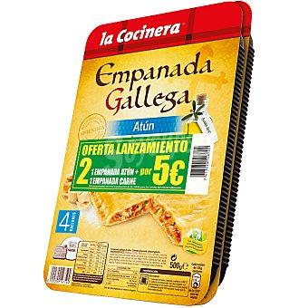 La Cocinera Empanada gallega lote 1 empanada de atún + 1 empanada de carne Estuche 1000 g