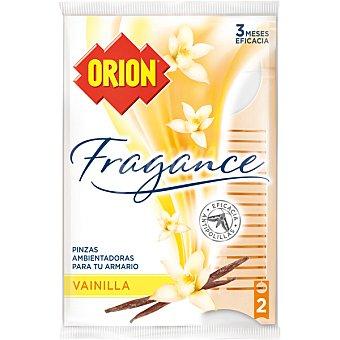 ORION Fragance Pinza antipolillas vainilla Bolsa 2 unidades
