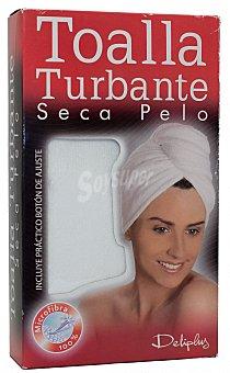 Deliplus Toalla turbante secapelo blanca u