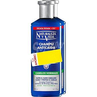 Natur Vital Champú anticaída para cabello normal pack ahorro Pack 2 frasco 300 ml