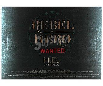 MANGO Rebel Hero Estuche para hombre compuesto por colonia + desodorante en spray 150 mililitros Colonia 100 mililitros + Desodorante 150 ml