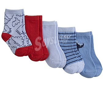 In Extenso Lote 5 pares de calcetines talla 24