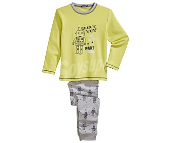 In Extenso Pijama largo para niño, color verde, talla 12