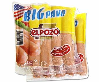 EL POZO Salchichas big de pavo 2 unidades 180 gramos