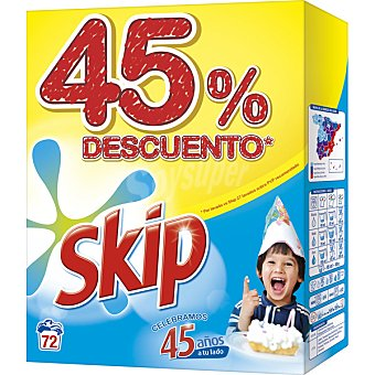 Skip Detergente en polvo Maleta 72 dosis