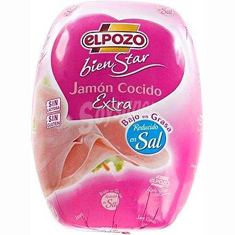 ElPozo Jamón cocido reducido en sal bajo en grasa al peso Bienstar 1 kg