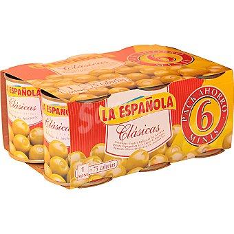 La Española Aceitunas rellenas de anchoa Pack 6x50 g