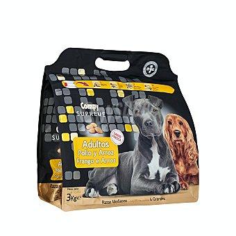 Compy Comida perro seca con pollo fresco y arroz supreme adulto razas medianas y grandes Paquete 3 kg