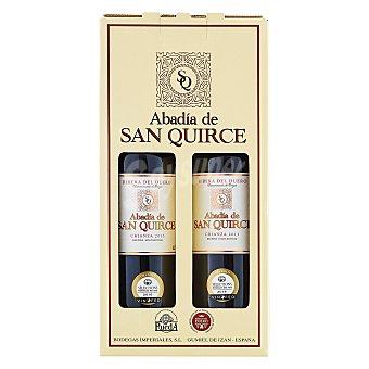 """Abadía de San Quirce Estuche de vino D.O. """"ribera del Duero"""" tinto crianza Pack 2x75 cl"""